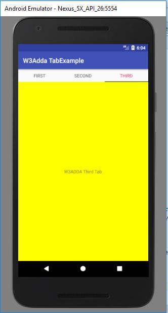 Kotlin TabLayout Example   W3Schools   Tutorialspoint   W3Adda