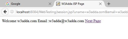 JSP Session | W3Schools | Tutorialspoint | W3Adda