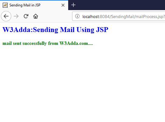 JSP Sending Email | W3Schools | Tutorialspoint | W3Adda