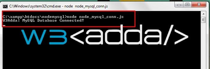 Nodejs MySql Connection   W3Schools   Tutorialspoint   W3Adda