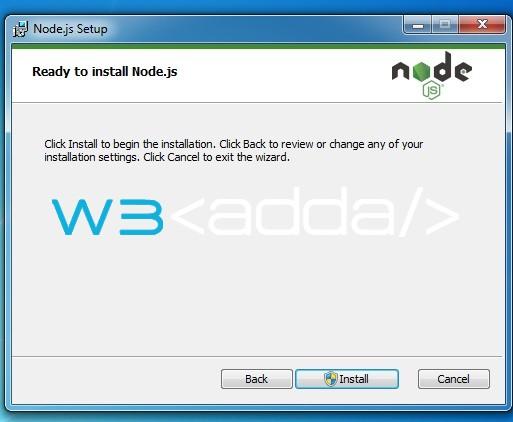 Node js Installation 6