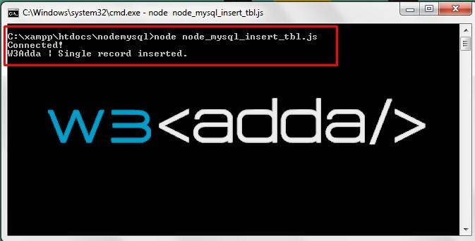 Node.js MySQL Insert Records 1