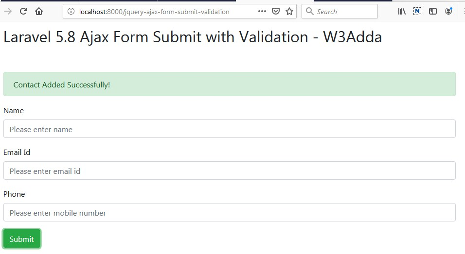 Laravel 5 8 jQuery Ajax Form Submit With Validation