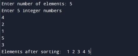 bitonic _sort_program_in_c